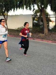 My mom running in her corporate fitness games